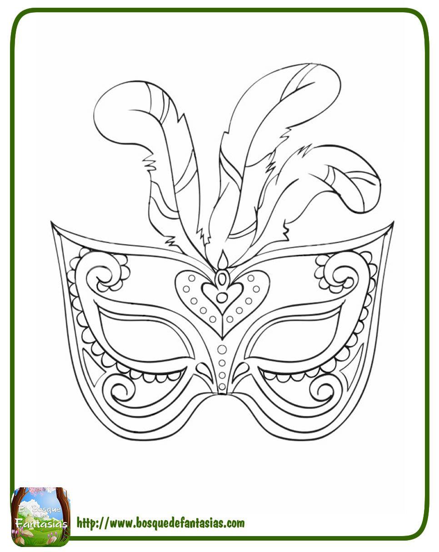 Mascaras Venecianas De Carnaval Para Colorear