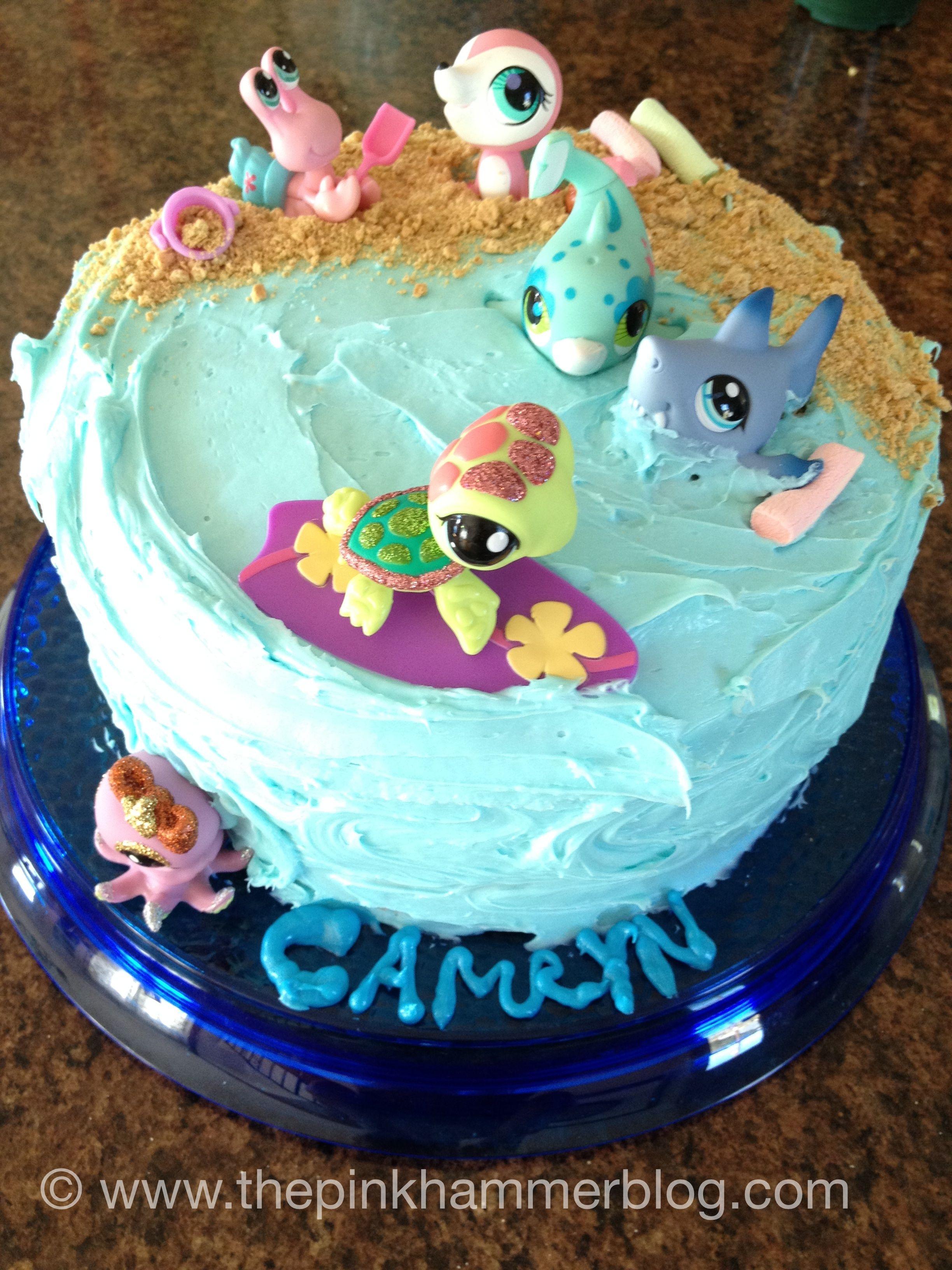Littlest Pet Shop Ocean Birthday Cake Is Is Easy