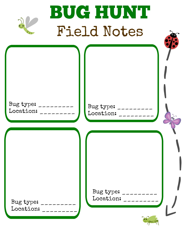 Bug Hunt Outdoor Activities For Kids W Free Printable