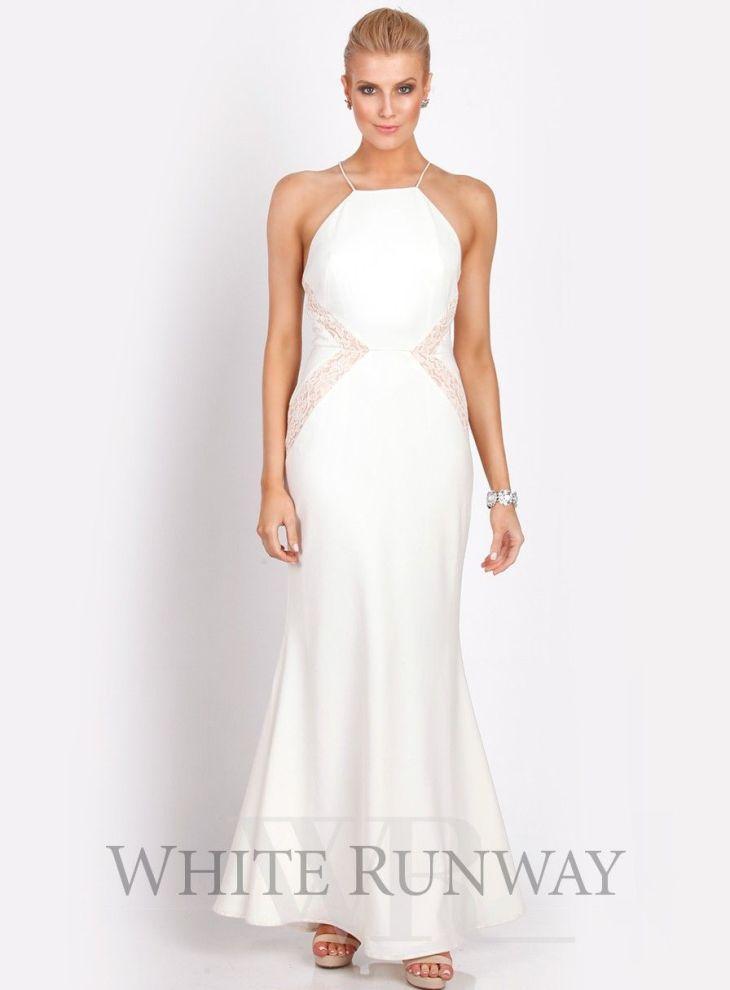 white formal dress WHITE SUMMER Pinterest Full length dresses
