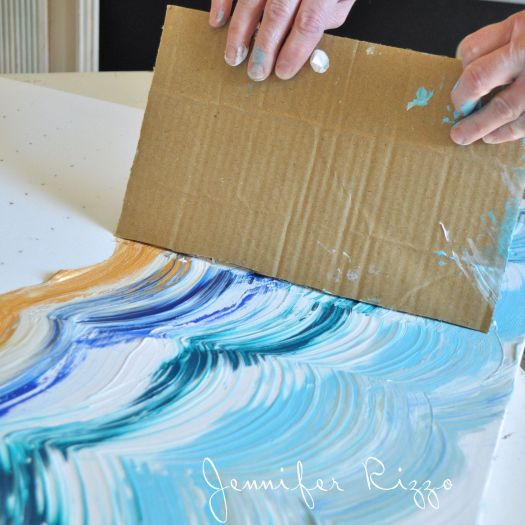 Drag Your Card Board Across Paint To Make Design A Great Way