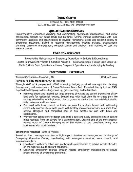 Building Maintenance Supervisor Resume - Resume Sample