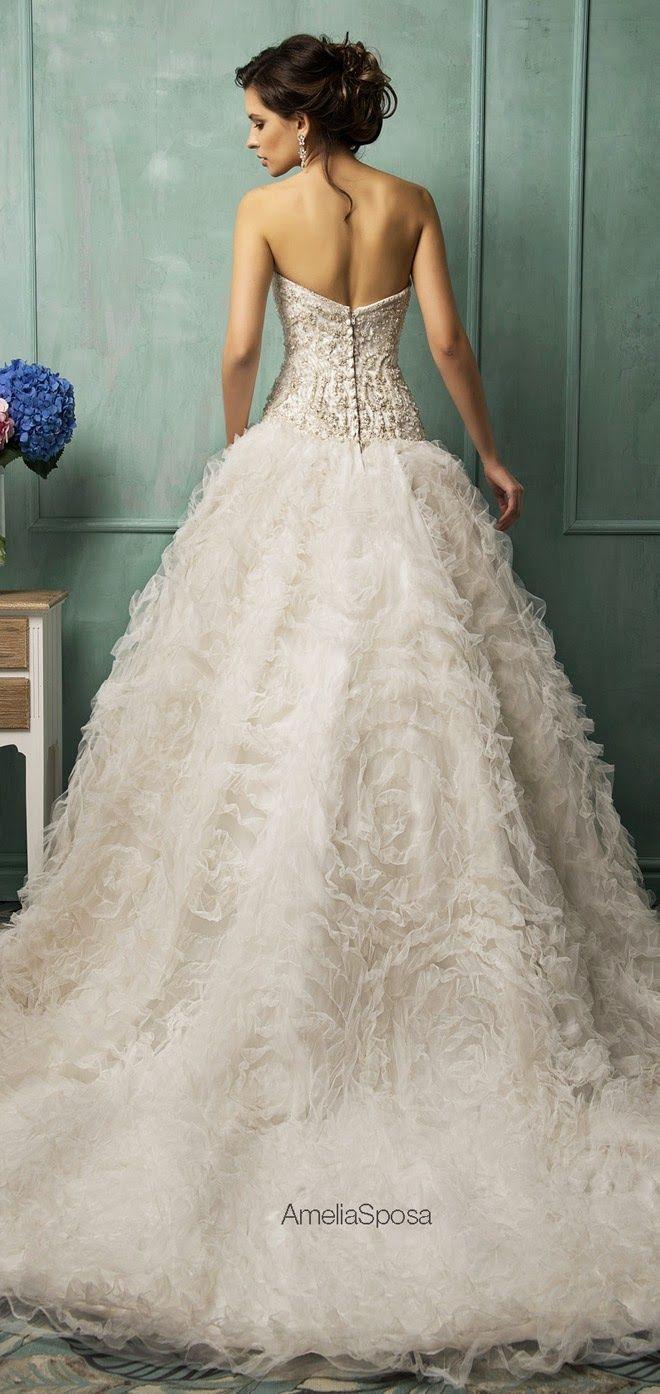 dramatic ruffles  Dresses  Pinterest  Wedding Wedding dress and