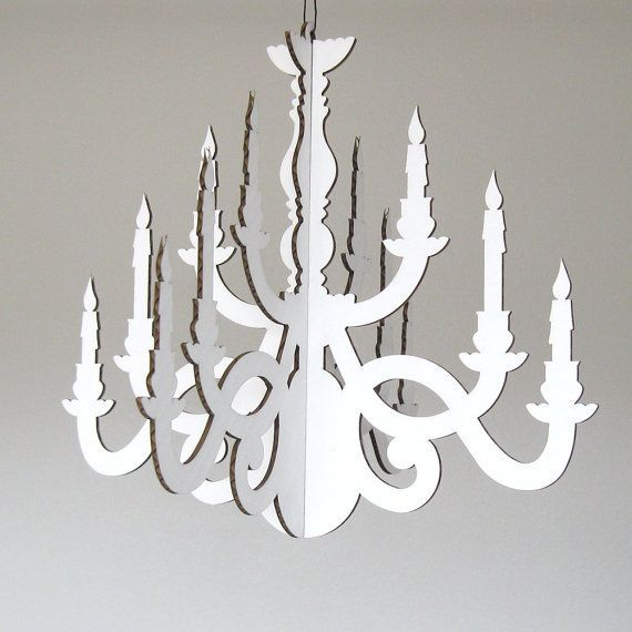 Classic Chandelier Paper Hanging By Fabparlor On Etsy