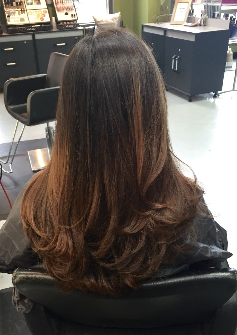 Brown Hair Layers Soft Curls Blowout Brunette