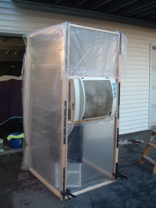 My Homemade Paint Booth