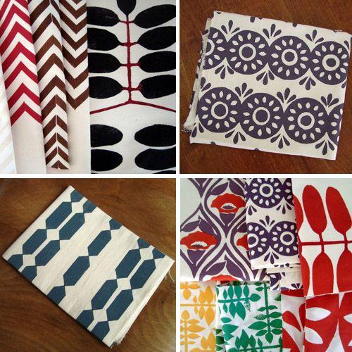 Hand Printed Fabrics Home Sweet
