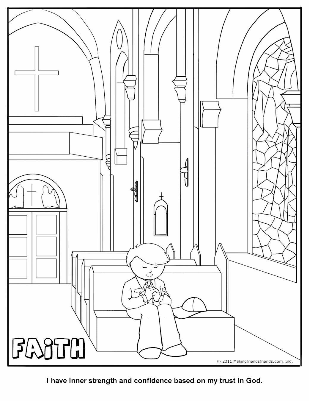 Faith Coloring Page Wolf Cub Achievement 11a