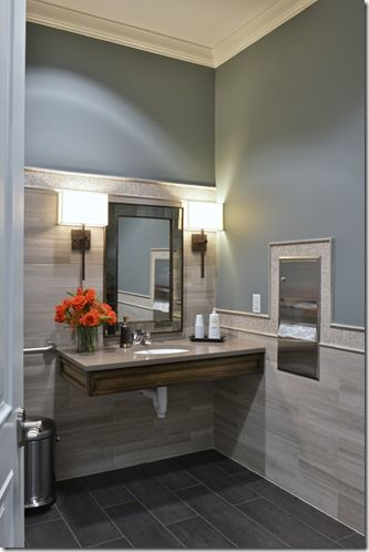 beautiful bathroom looks easy to clean wipe down on commercial office space paint colors id=83141