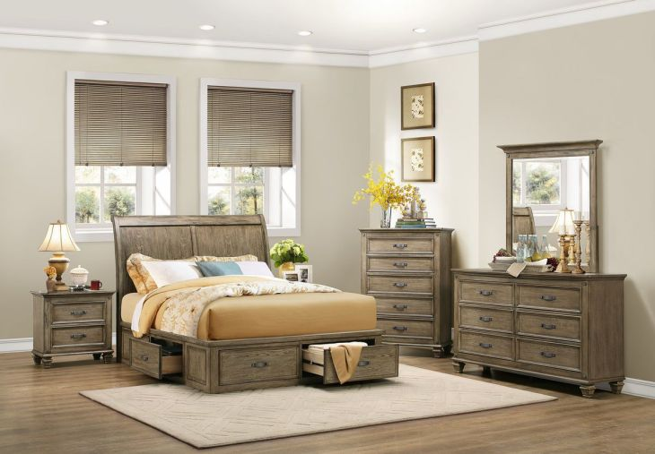 Sylvania Queen Sleigh Platform Bed SL Platform beds Queens