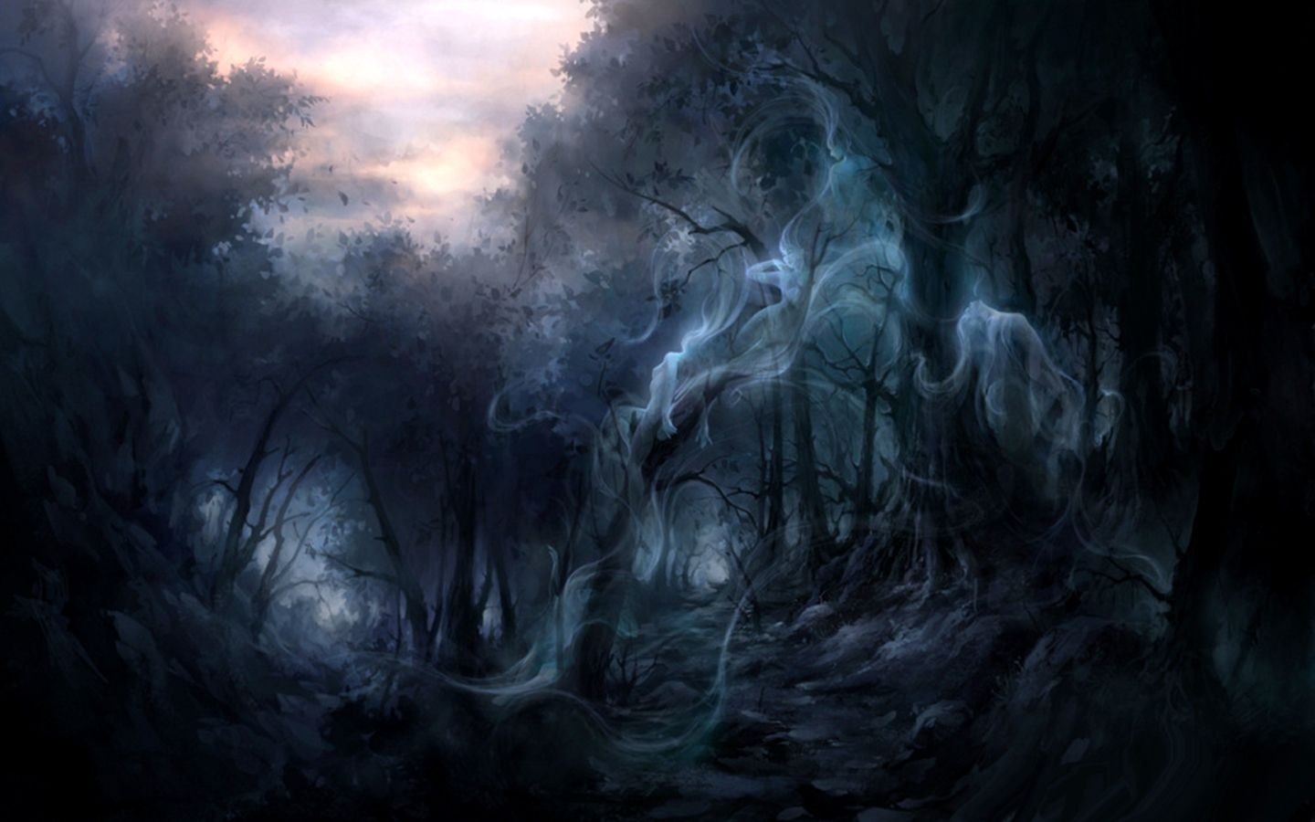 gothic forest wallpaper |  forest wallpaper/background 1440 x