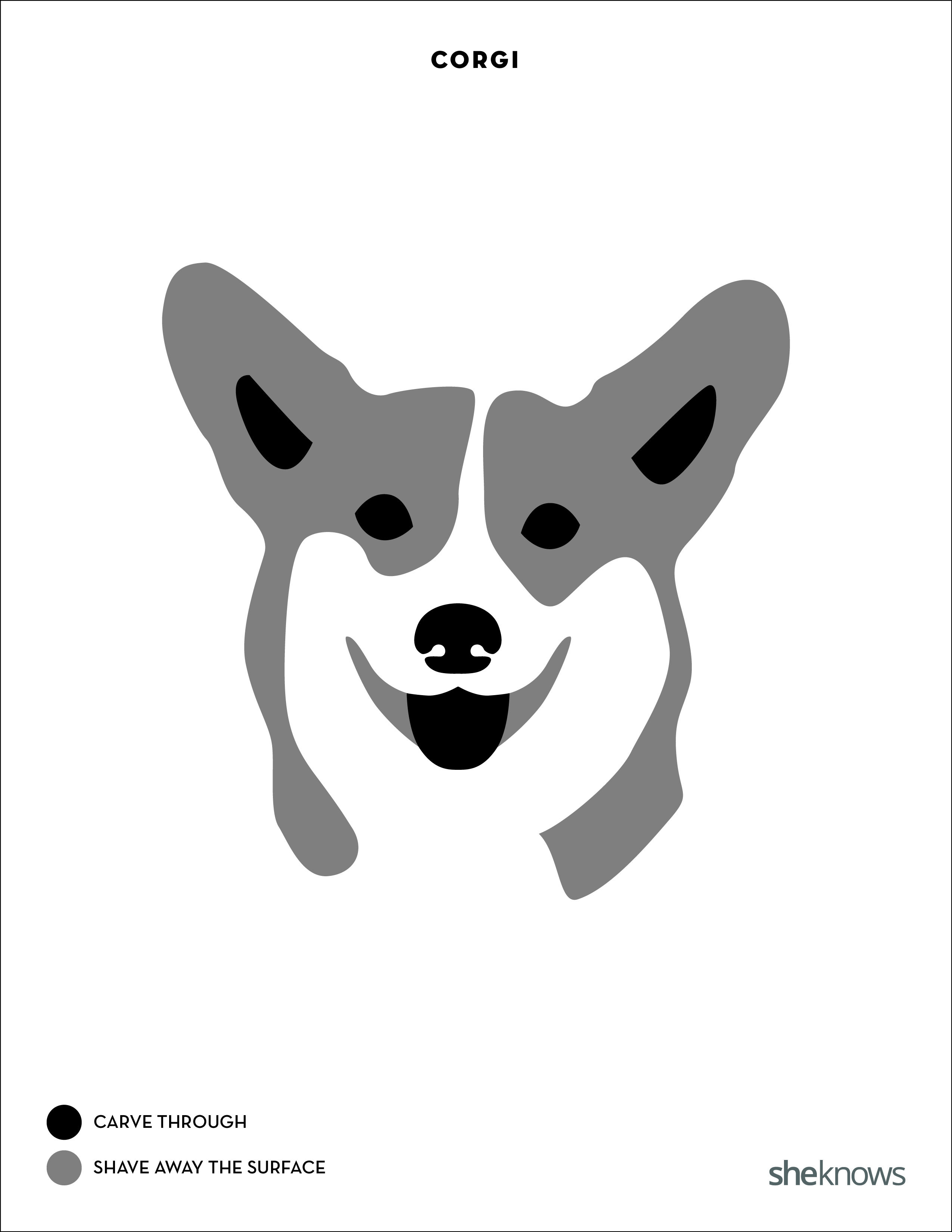 You Too Can Carve Perfect Pit Bull Amp Corgi Pumpkins With The Right Template Printable Pumpkin