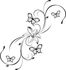 Bildergebnis Fr Malvorlage Blume Mit Schmetterling