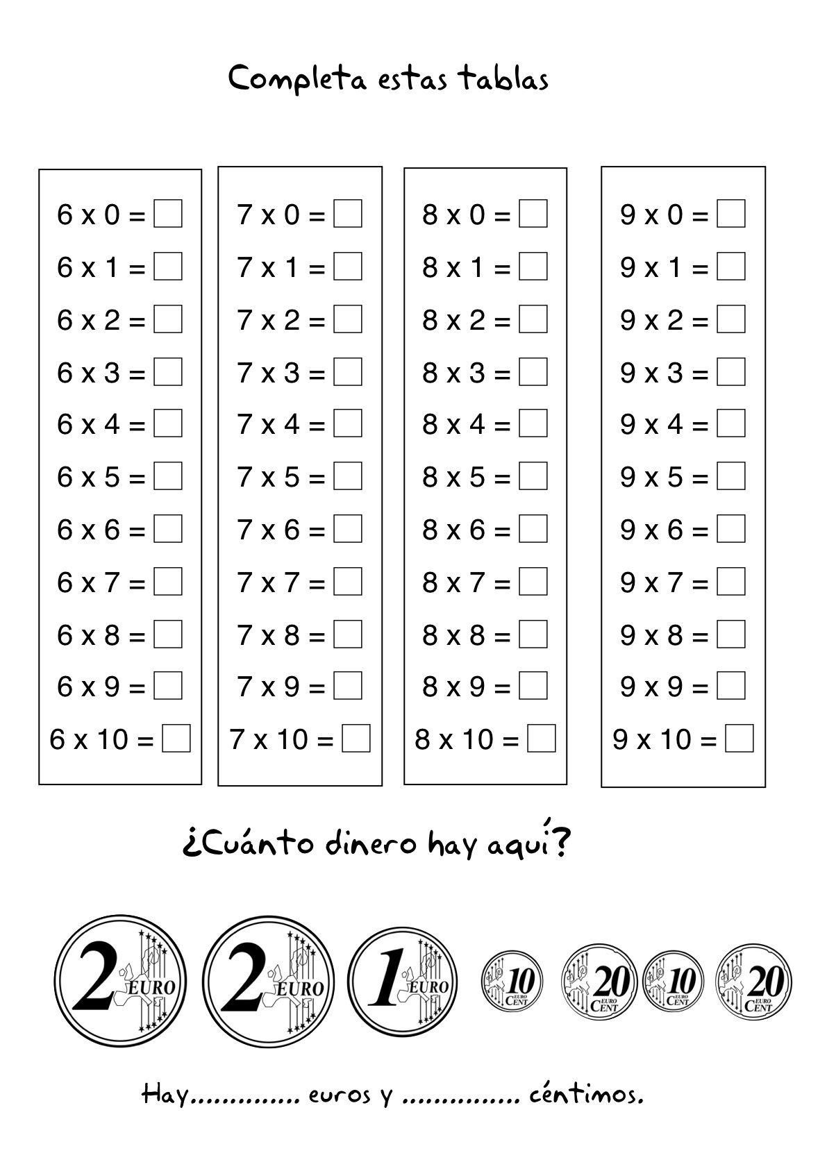 Tarjetas De Multiplicacion Para Imprimir