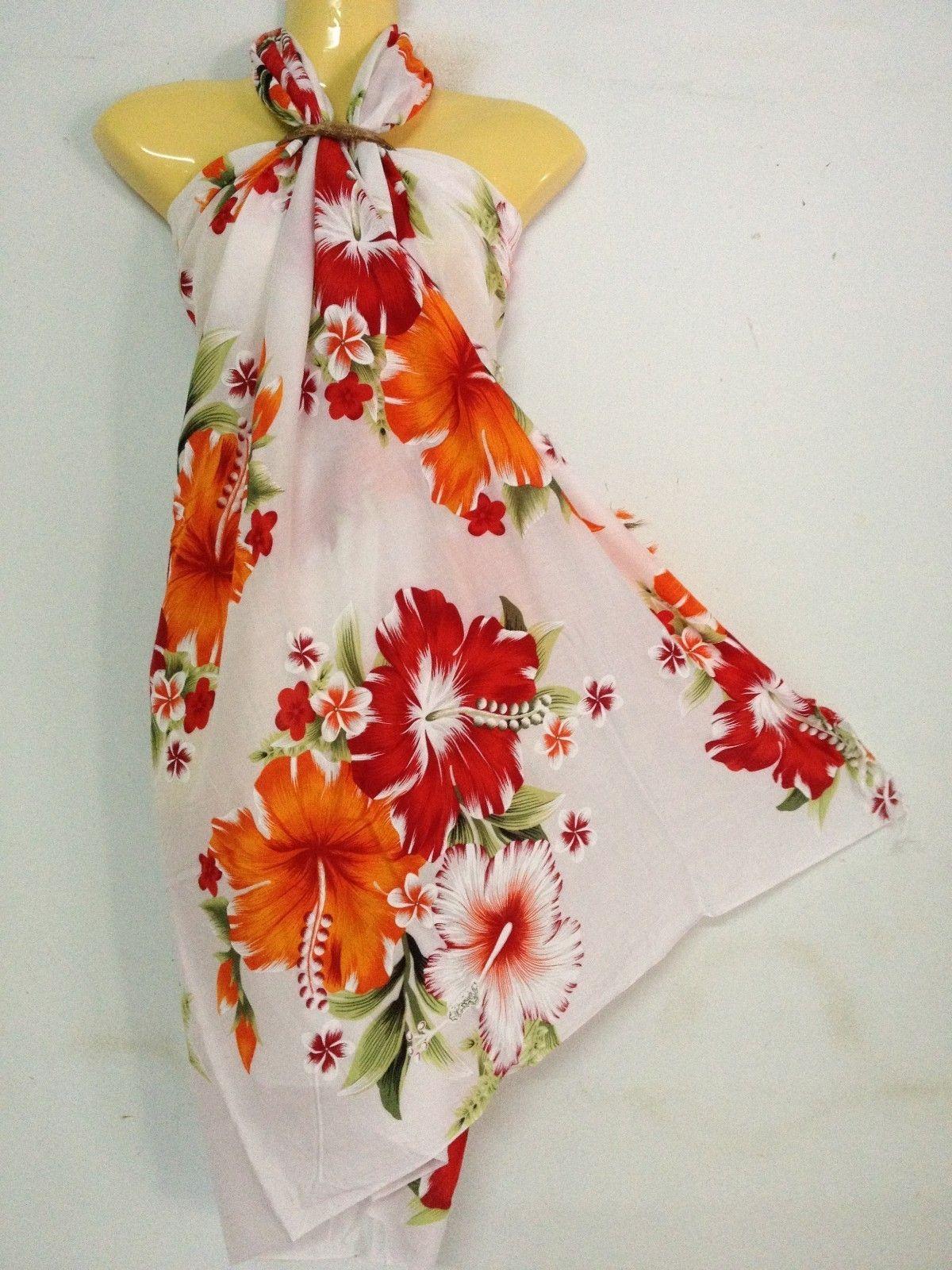 Sarong Pareo Skirt Dressy Multi Color Hawaiian Island