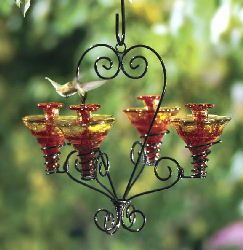 Parasol Grand Chandelier Hummingbird Feeder