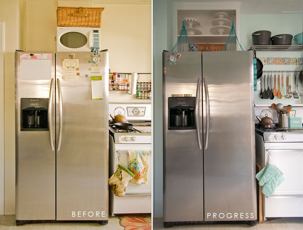 no cabinet over the fridge kitchen ideas pinterest storage fridge storage and kitchens on kitchen cabinets no doors id=11615