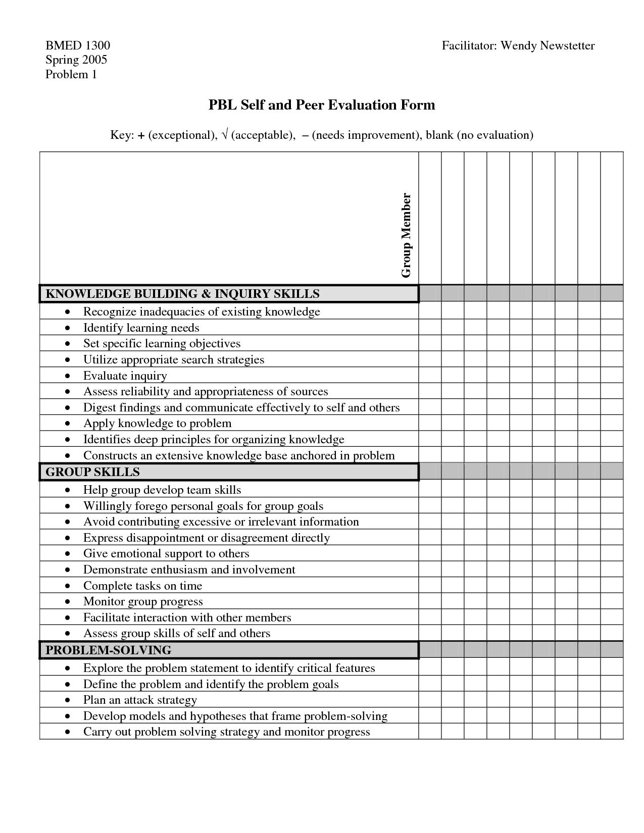 Pbl Peer Evaluation