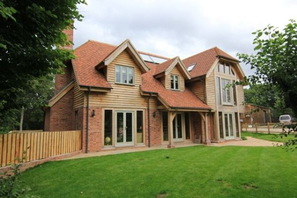 Replacement house mixed cladding full oak frame