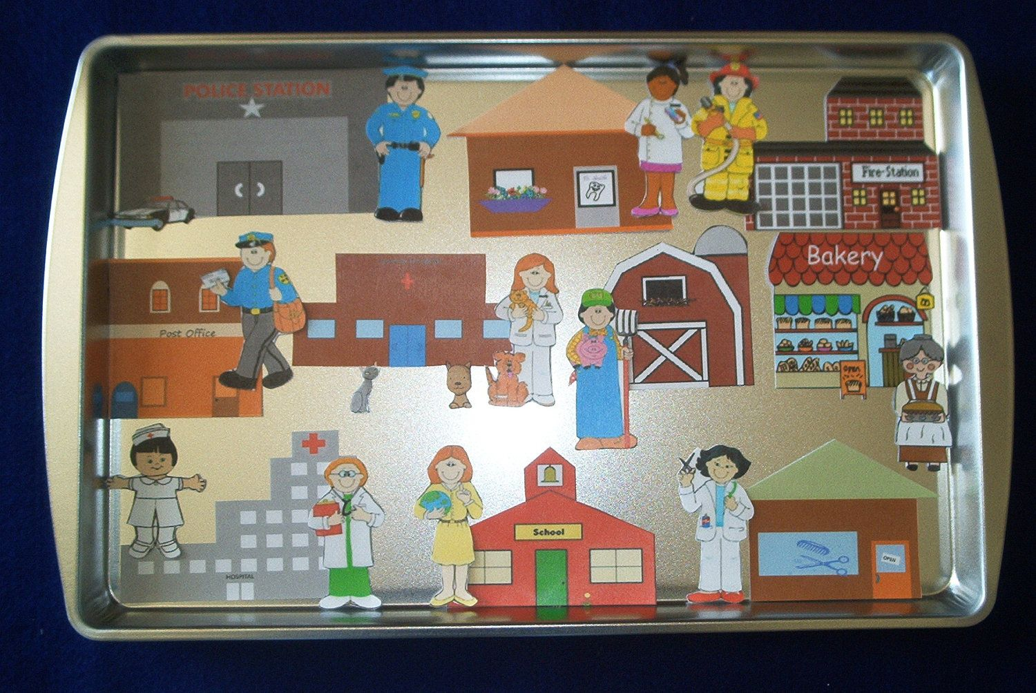 Community Helpers Workers Magnetic Activity By