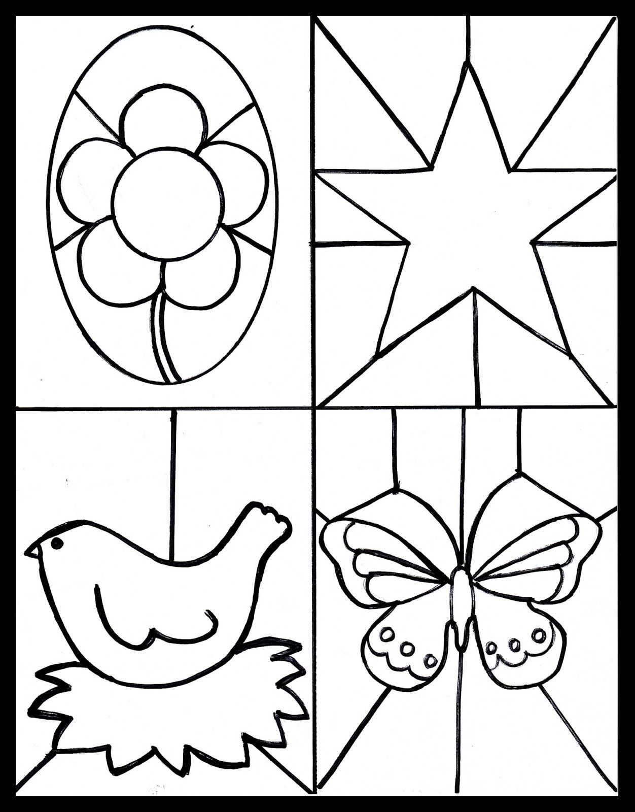 Free Stained Glass Printable Kid S Craft