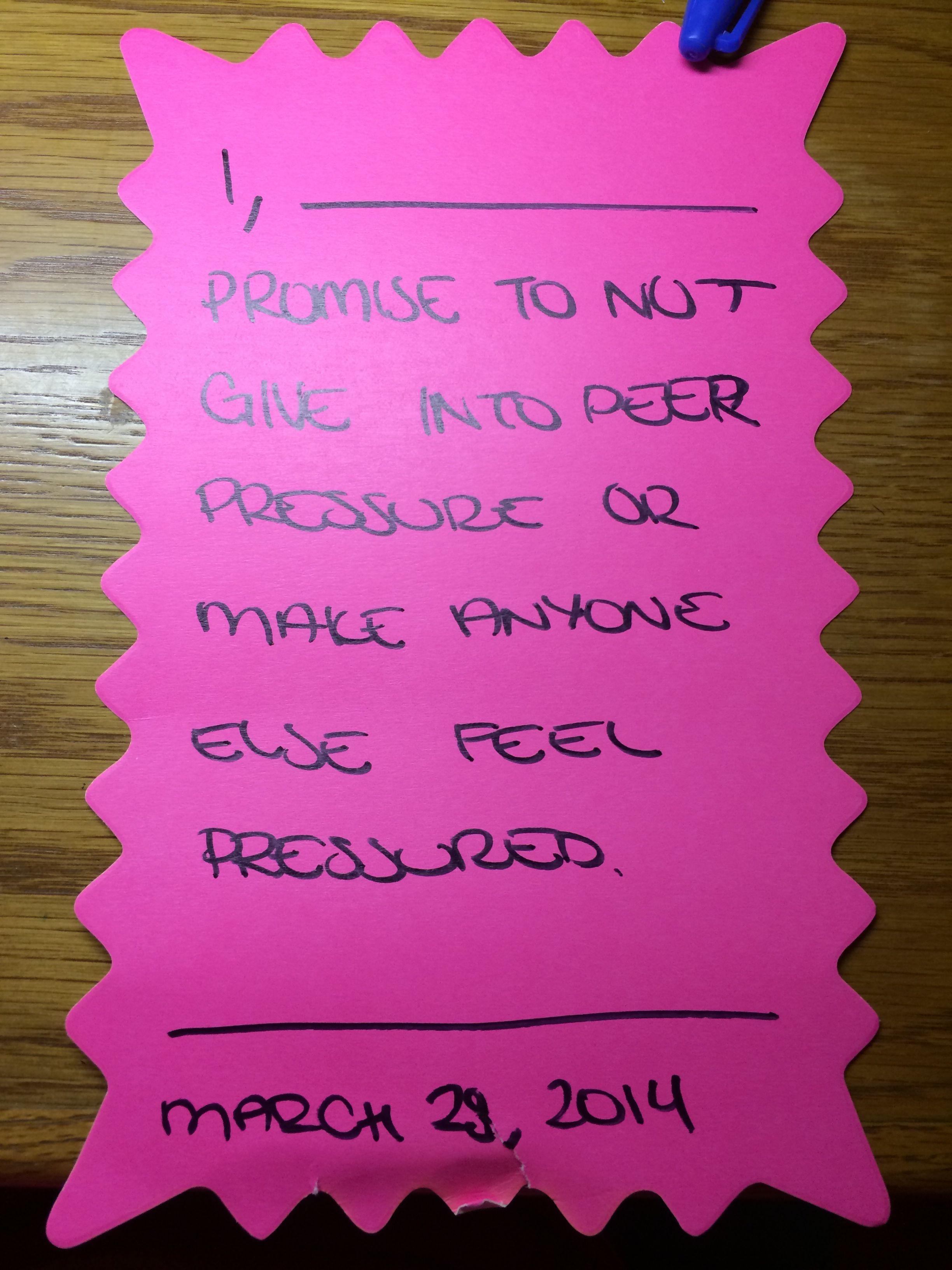 Peer Pressure Lesson Activity