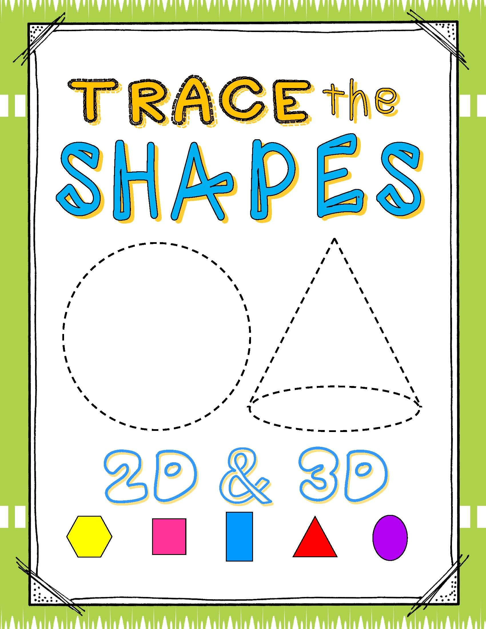Shapes 2d Amp 3d Write Amp Wipe Cards 24 Shapes 6 Differentiated Sets