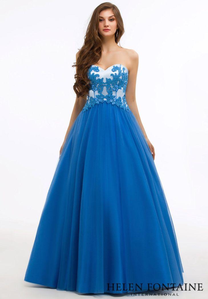 Satin Floor Length Sweetheart Open Back Prom DressStyle HFP