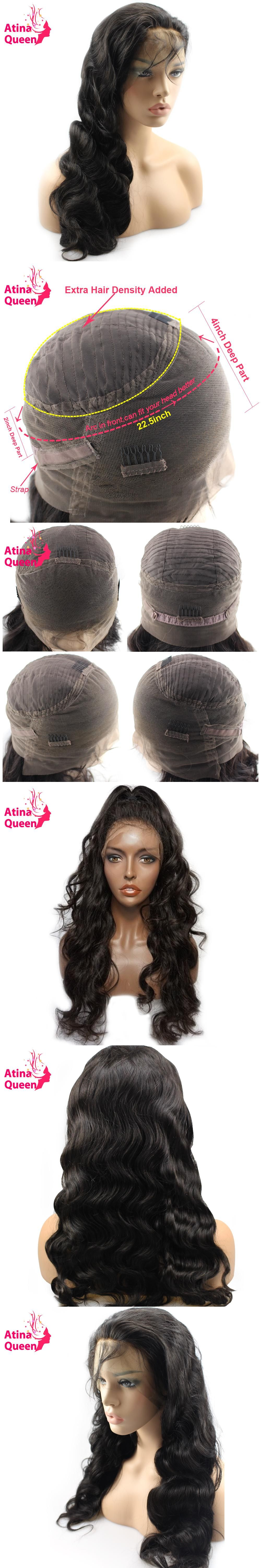 Atina Queen 180 Density 360 Lace Frontal Wig with Baby Hair Body