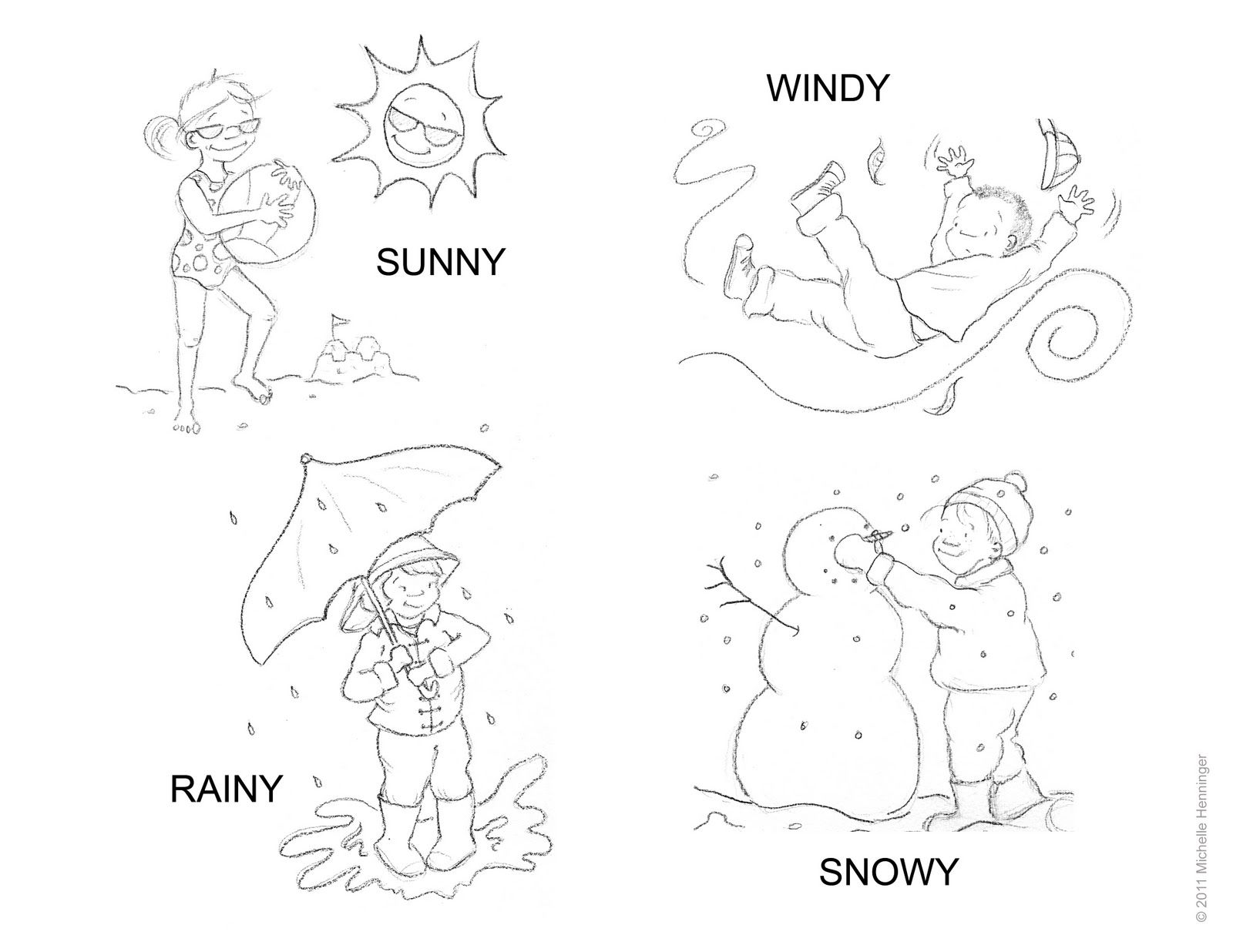 Weather Coloring Page