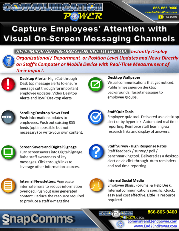 SnapComms channels through Communication Power are ...