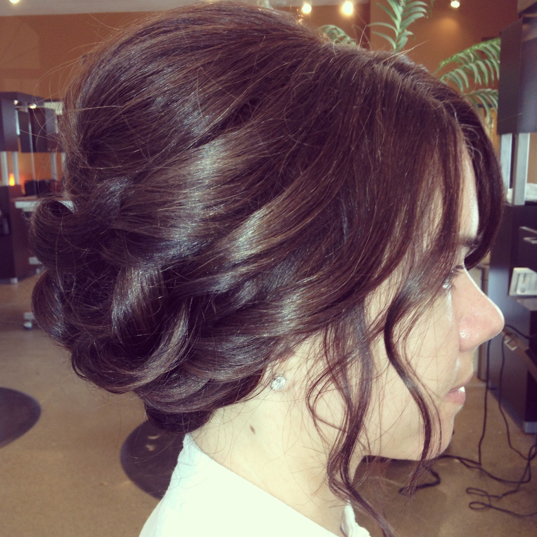Bridal updo Hair by me Pinterest