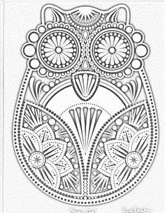 Printable Dover Coloring Pages Owls