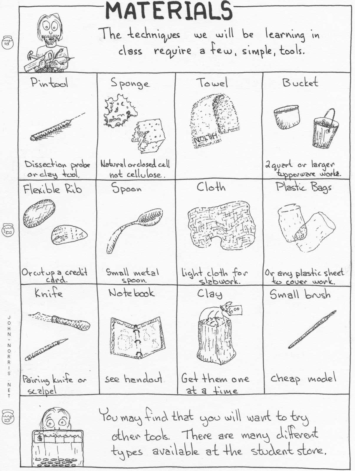 Art Tools Worksheet