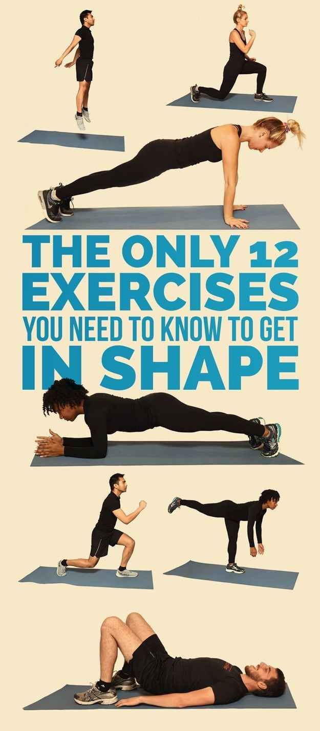 The Only Exercises You Need To Get In Shape Exercises Shapes