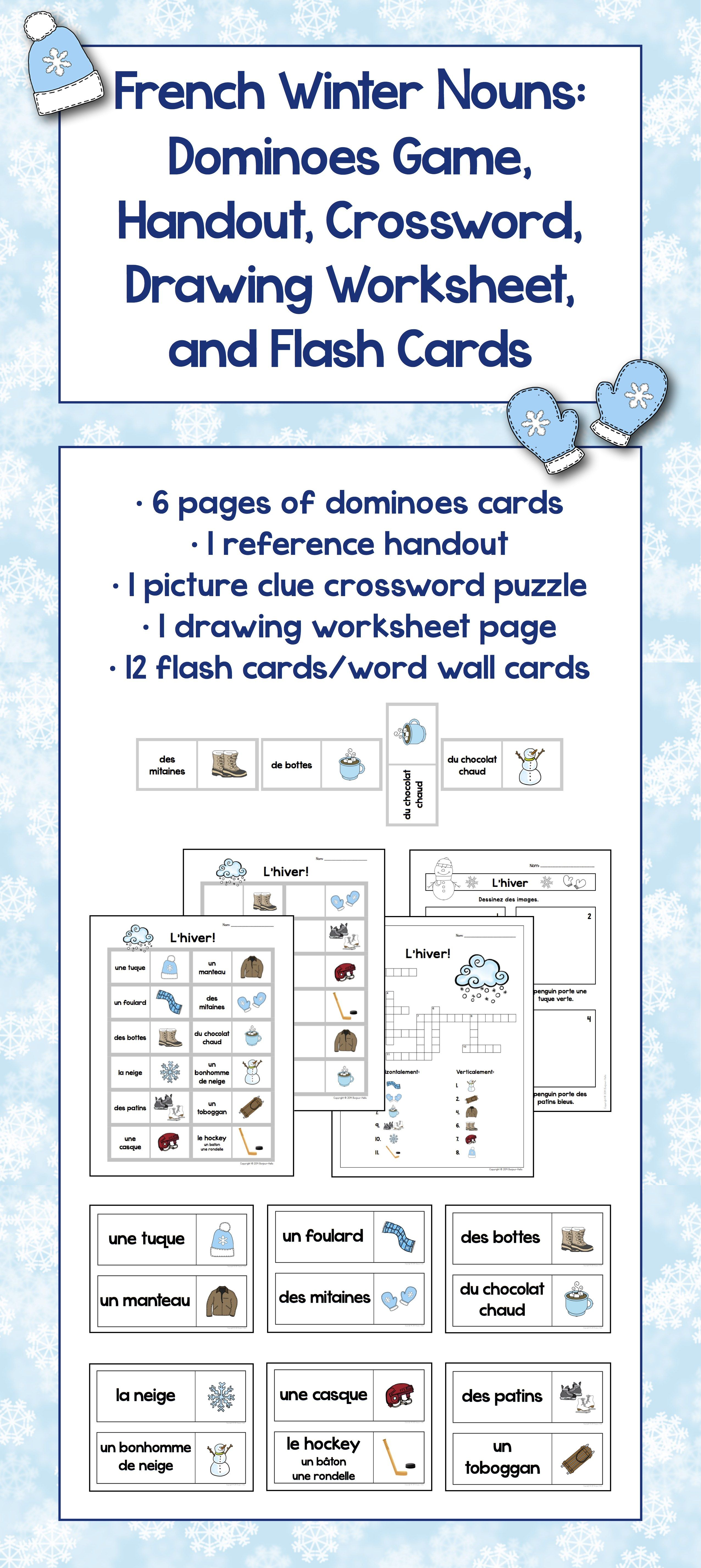 French Winter Sugaring Off Word Wall And Vocabulary Games