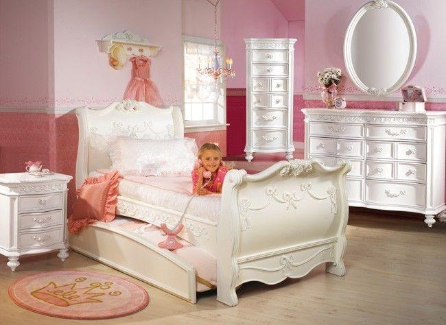 disney princess 5 piece full sleigh bed bedroom set ! disney