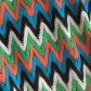 Missoni style beach zig zag crop top fses b and fua