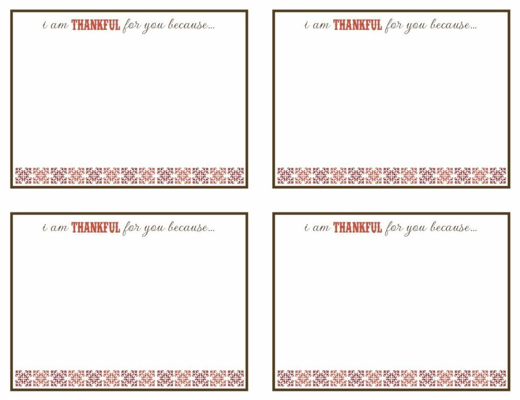 Free Printables I M Thankful For You Because This