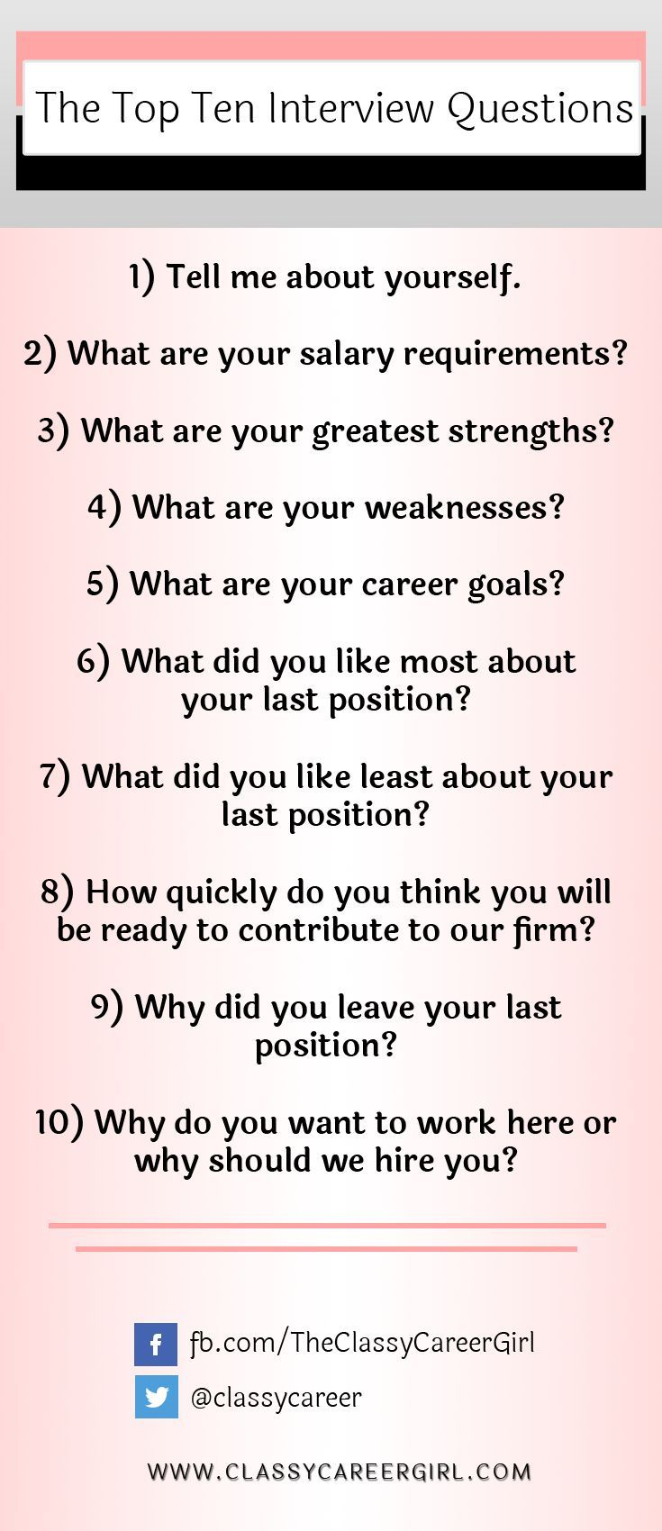 Superior Negotiating Table Answer The 10 Most Common Interview Questions. Technical  Recruiter ...