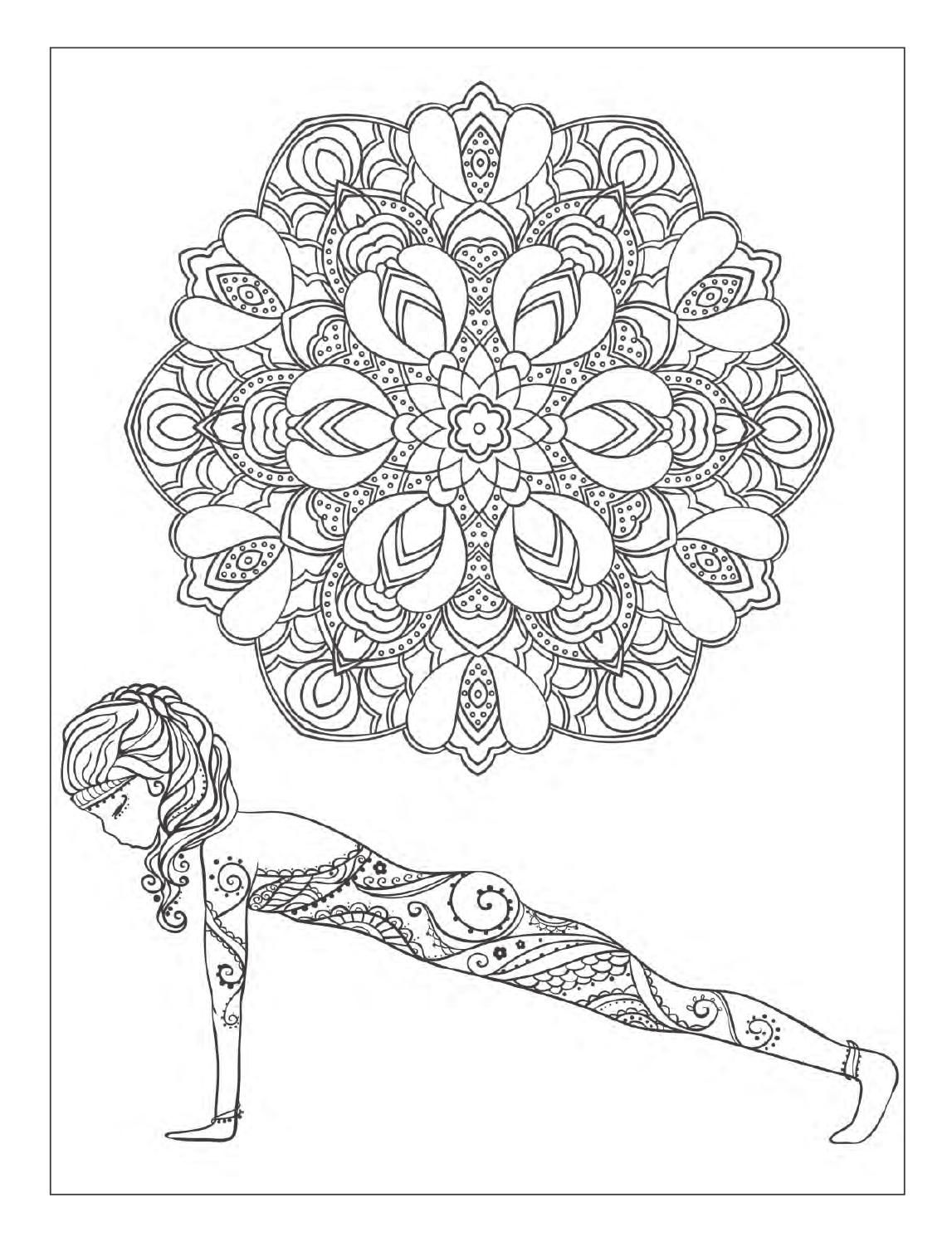 Yoga Coloring Book For S