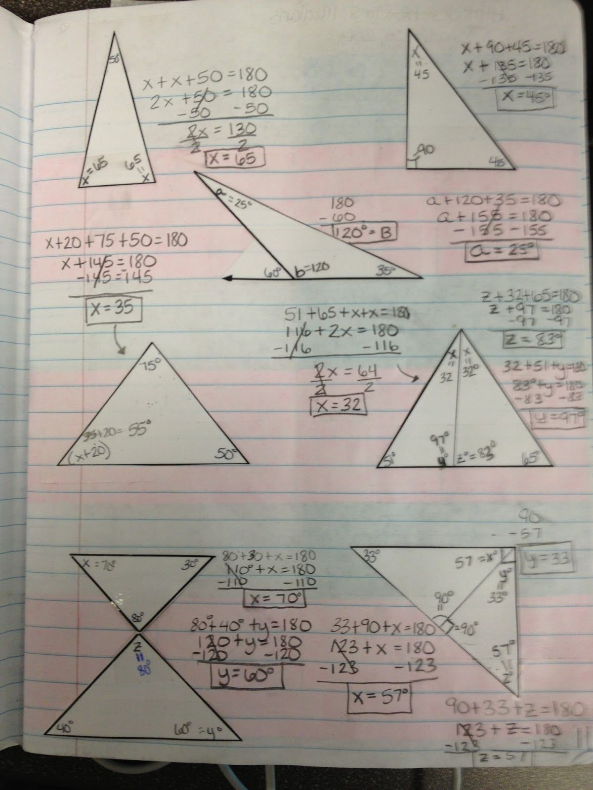 Teaching In Special Education Angle Sum Theorem
