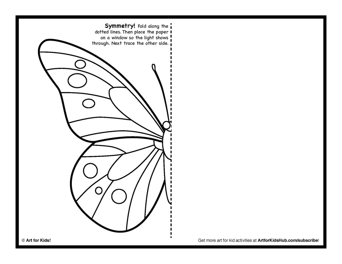 Lovely Symmetry Coloring Pages For Kids