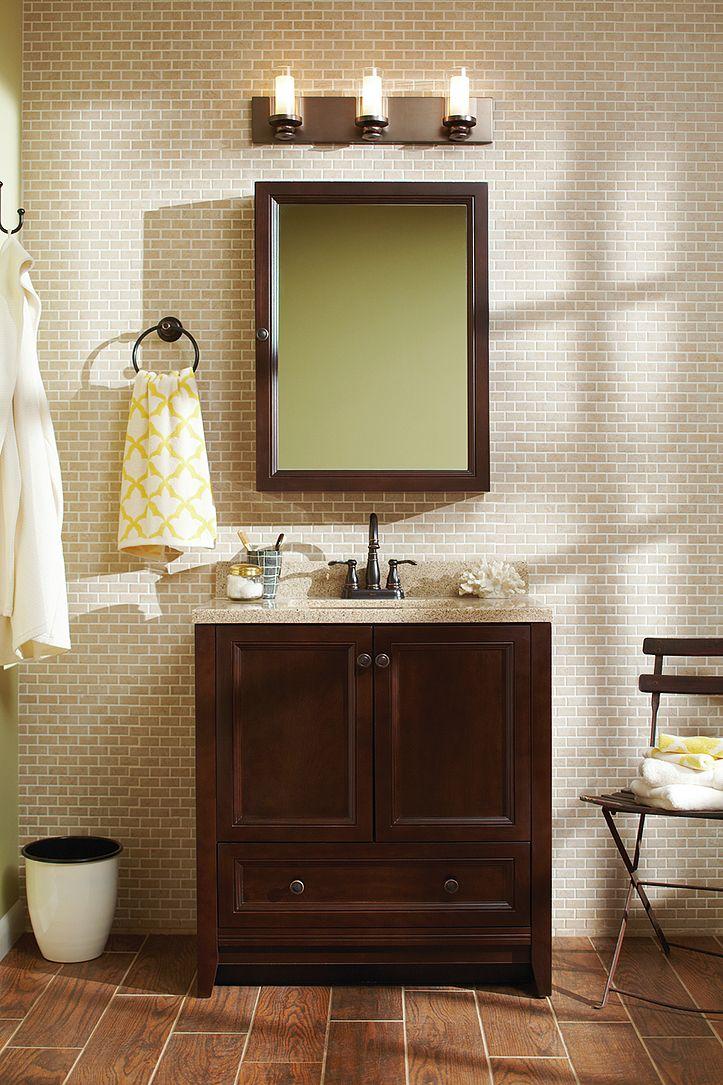 the glacier bay delridge bathroom vanity combo features a rich