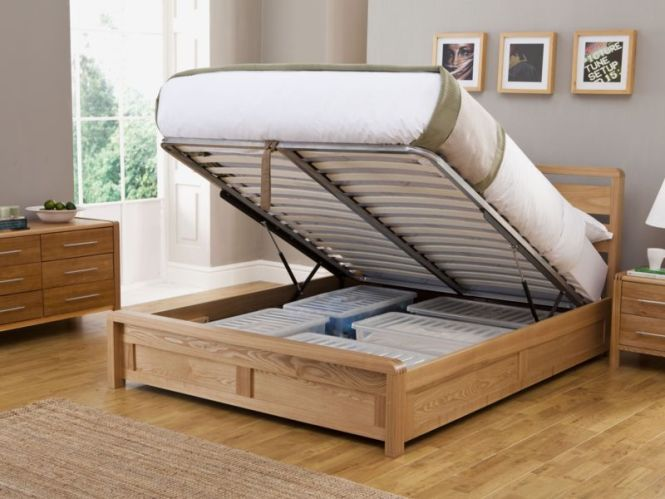 Hip Hop Ottoman Double Size Bed Frame With Lift Up Storage