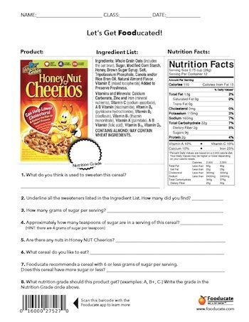 Fun Nutrition Worksheets For Kids Put Out By Fooducate A