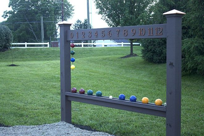 Bocce ball scoreboard bocce ball court backyard and gaming