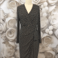 Jones new york faux wrap black ivory dress sz ivory dresses