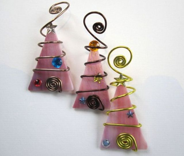 Beautiful Trio Ornaments To Go On Your Tree Or To Be Given As Individual Ornaments To Friends A Beautiful Iridescent Pink Trio