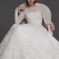 One of the most beautiful wedding dresses fall wedding